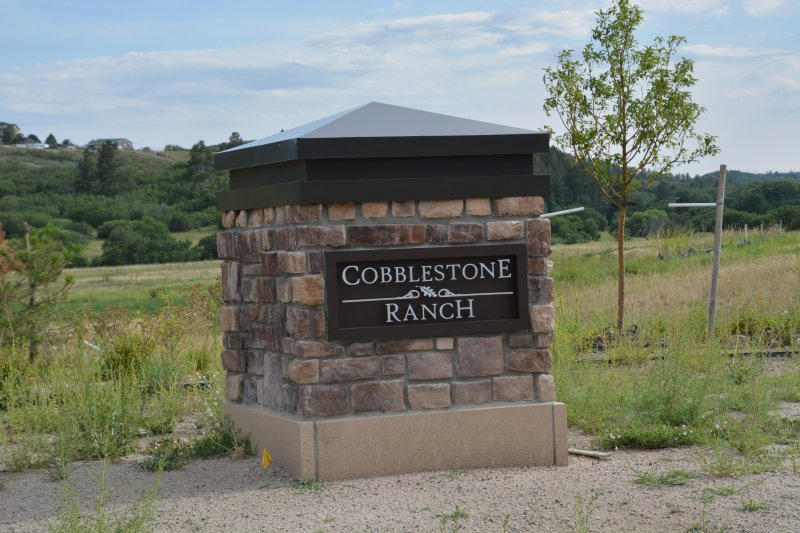 Cobblestone Monument Sign