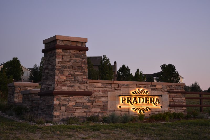 Pradera Monument Sign