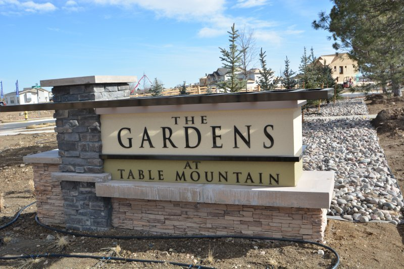 The Gardens Monument Sign