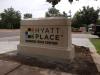 cast concrete Monument Sign