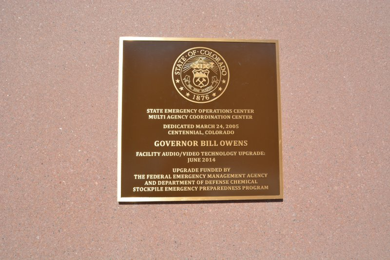 bronze plaque for Department of Homeland Security