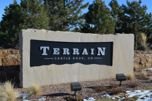 Terrain Stone sign with Aluminum Letters
